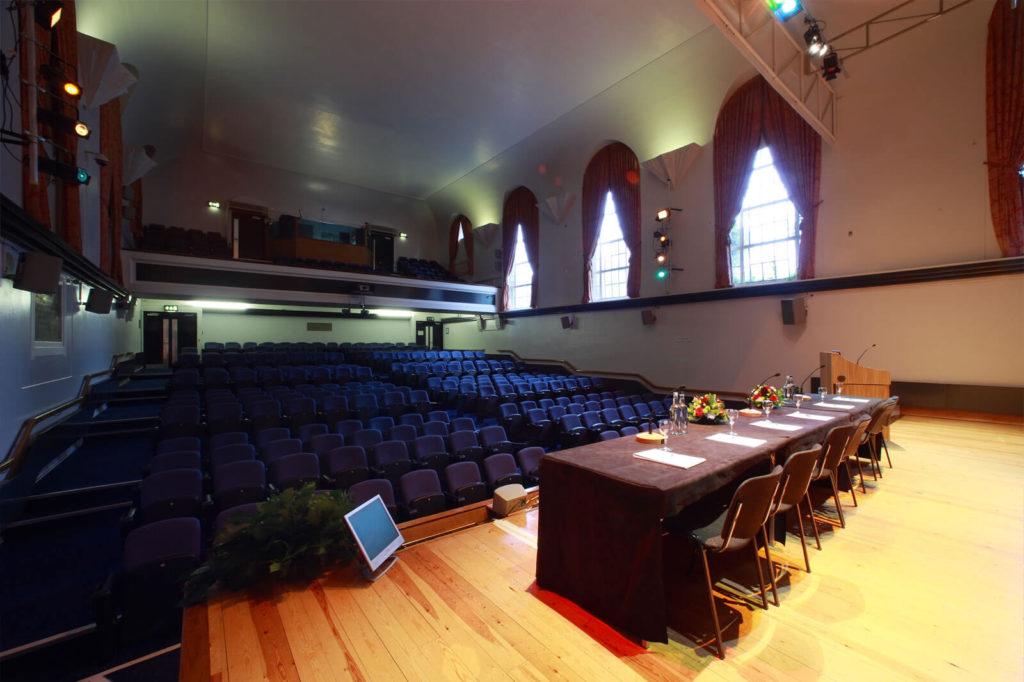 Tuke Hall Speaker Table Set Up