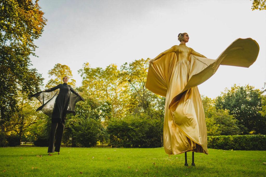 Females on stilts
