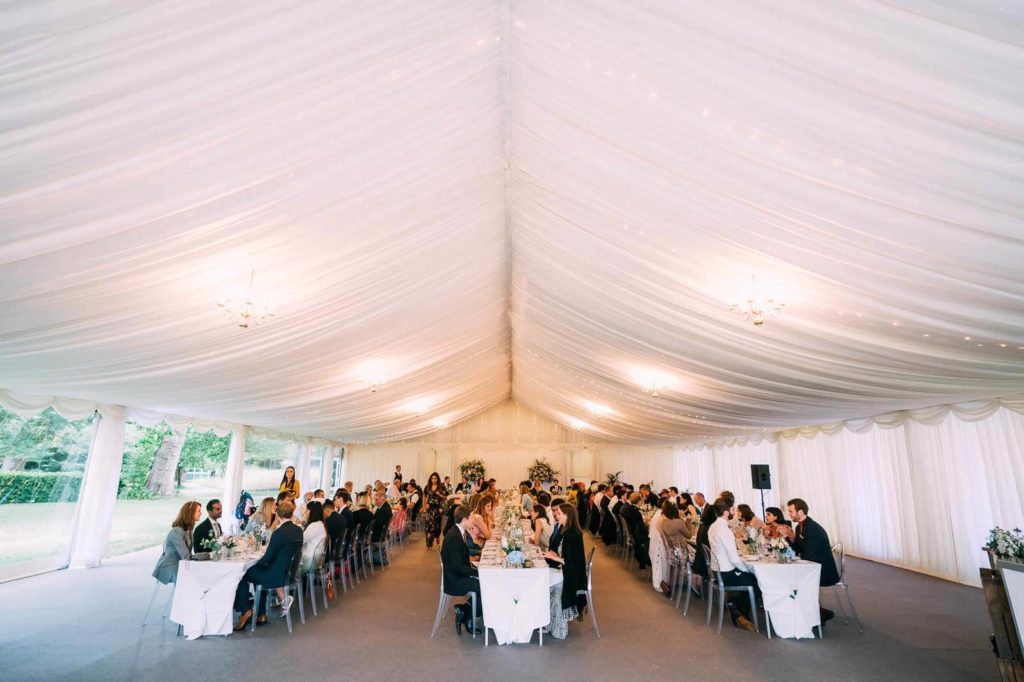 Marque Wedding with long tables